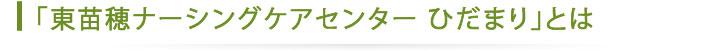 東苗穂ナーシングケアセンターひだまり